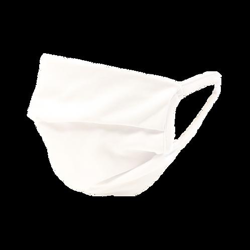 10 masques fibre lisse blanc