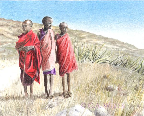 Boys near Ngorongoro, Tanzania WM.jpg