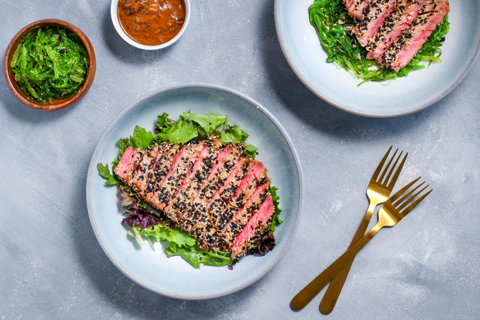 Grilled Tuna Steaks with Asian Sesame Crust