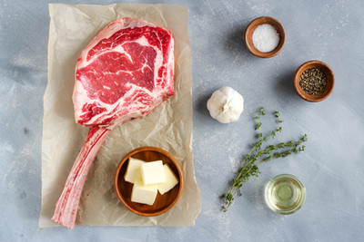 Ingredients for Grilled Tomahawk Steak