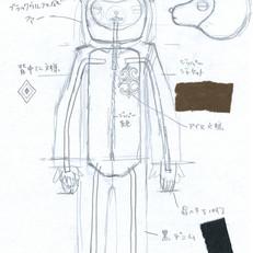 「木ノ花ノ咲クヤ森」に登場するベアの設計図。
