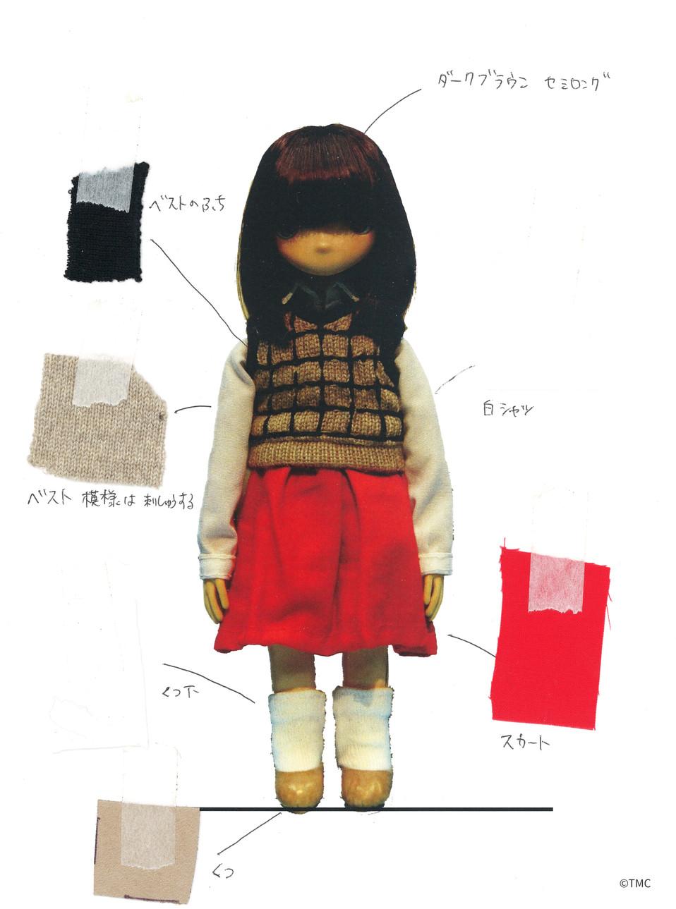 女の子に使う生地の色や素材。