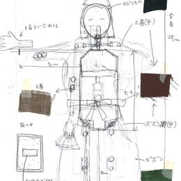 「木ノ花ノ咲クヤ森」に登場する翁の設計図。