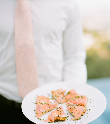Server with Salmon Galettes