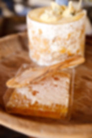 cheese and honeycomb