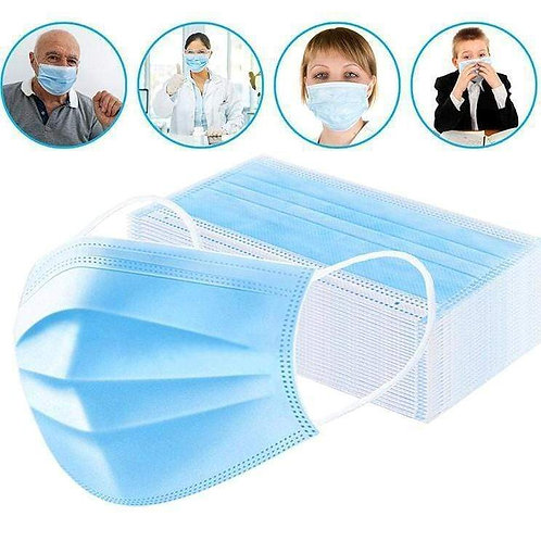3 Ply Disposable Protection Masks (50 pack)