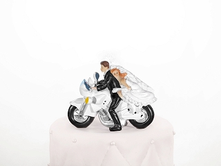 Tortenfigur Motorrad