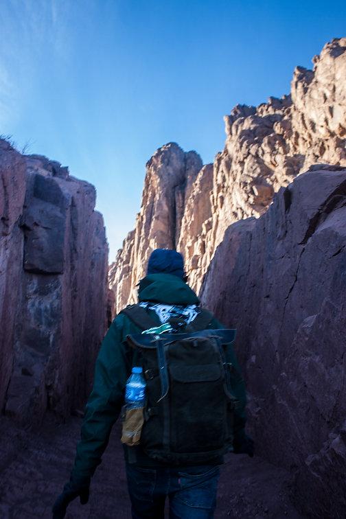 Helmy climbing St. Catherine mountain in Sinai, Egypt