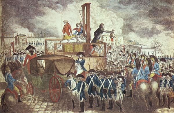 Guillotinierung Robespierres