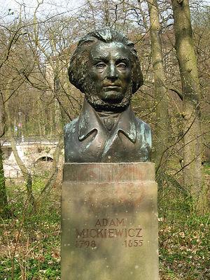 Büste von Adam Mickiewicz in Weimar