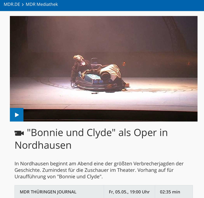 Bonnie & Clyde @MDR Thüringen