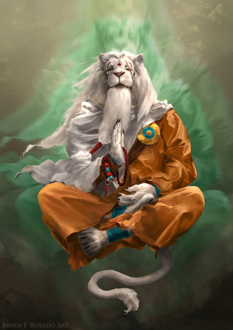 I redesigned Ajani as someone tired of wars and battles, finding peace at the outer edges of the Multiverse, far from the conflicts of fellow planeswalkers. Ajani Goldmane © Wizards of the Coast
