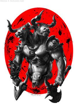 Two-Headed Minotaur Warrior