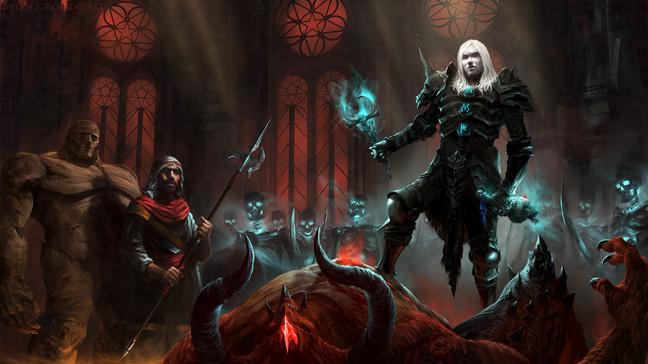 Diablo II Necromancer fan art
