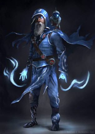 I redesigned Jace as a kind of fugitive, drove mad by the constant attacks on him for being too important in too many places at the same time... Jace Beleren © Wizards of the Coast