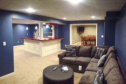 Finished Basement with Bar