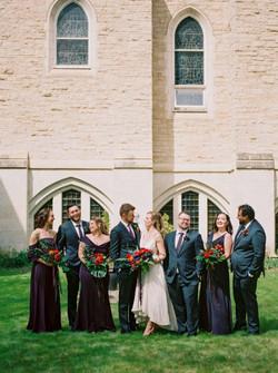 wedding party church