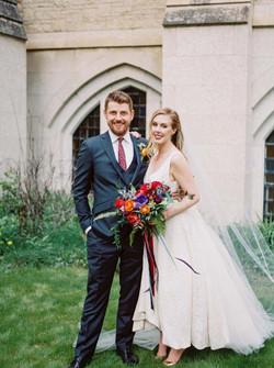 bride and groom st josephs