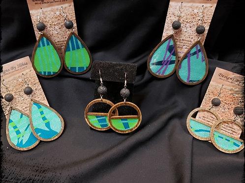 Ilihia Designs with EHCC printed fabric earrings