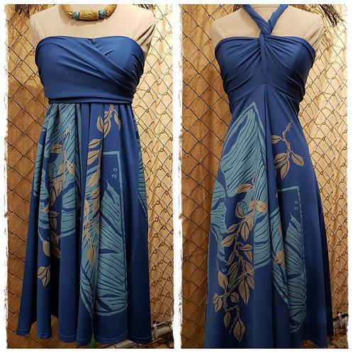 French Blue Hula Holoholo D77 Dress