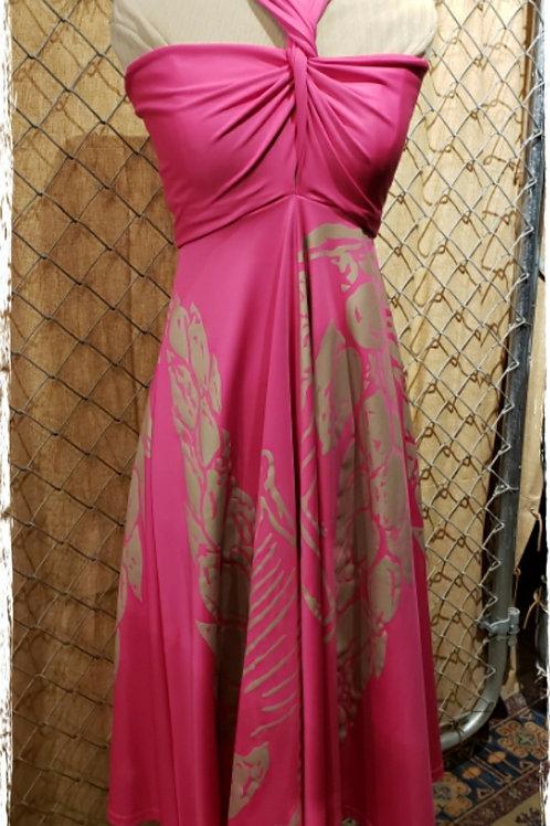 Hot Pink Hula Holoholo D77 Dress