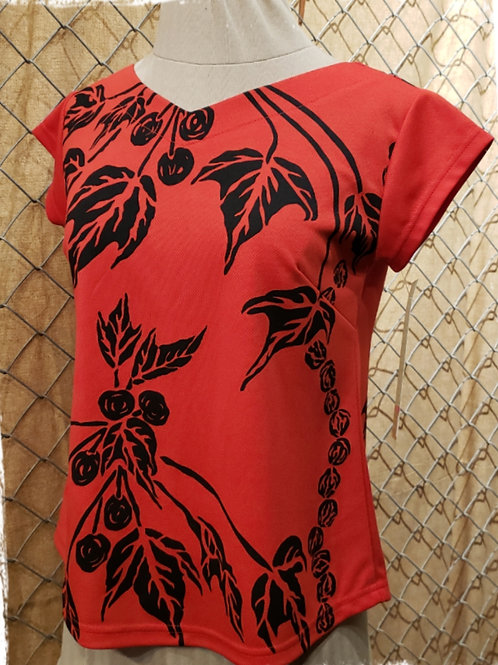 Red T64 with Kukui Print