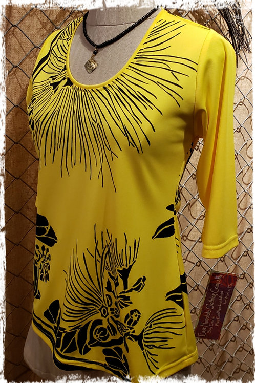 Smooth Yellow T29 with Classic Lehua