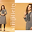 Thumbnail: MC Design Fashionhub  DARK GREY POLLY COTTON EMBROIDERED KURTA - AKIRA KURTI