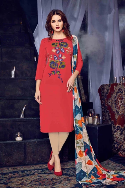 Red MC Design  HEER KURTI