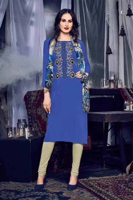 MC Design  HEER KURTI - Dark Blue