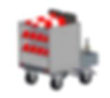 Chariot traitement avion avec tensaguide vol low cost (option)