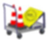 Chariot transport manutention accessoires piste