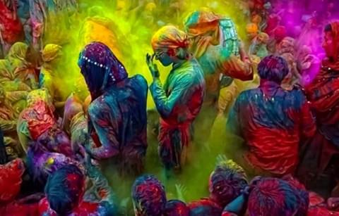Holi festival celebrations in 2013