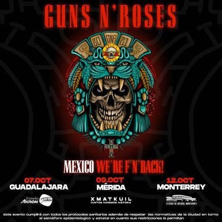 Anuncia Guns N´ Roses concierto en Mérida