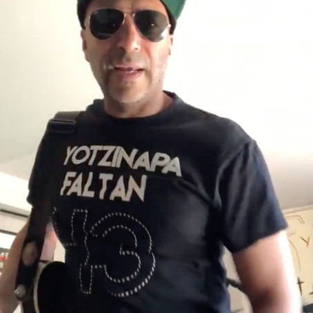 Tom Morello dedica canción a los 43 desaparecidos de Ayotzinapa