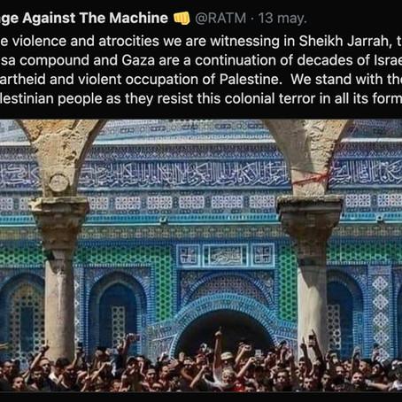 Rage Against The Machine lanza mensaje de apoyo a Palestina y Twitter arde