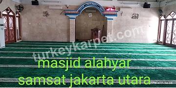 Pemasangan Karpet Masjid Al-Ahyar Samsat Jakarta Utara