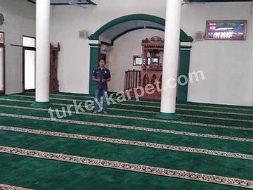 Pemasangan Karpet Masjid Baiturrohim Ulujami