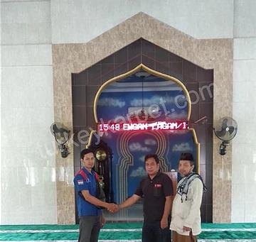 Pemasangan Karpet Masjid Nurhidayah, Tambun Selatan