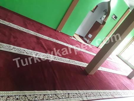Pemasangan Karpet Musholla Raudhotul Muslim, Taman Harapan Baru, Bekasi
