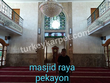 Pemasangan Karpet Masjid Raya Al-Fajar
