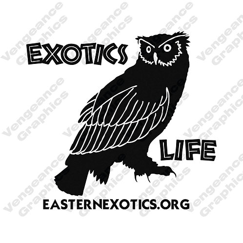 Exotic Life Owl Decal