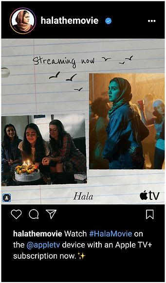 Hala movie on Apple TV