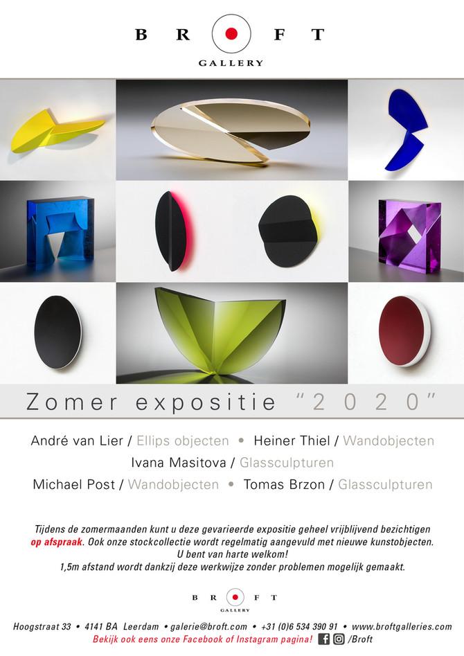Zomer Expositie 2020 Andre van Lier, Heiner Thiel, Ivana Masitova, Michael Post & Tomas Brzon