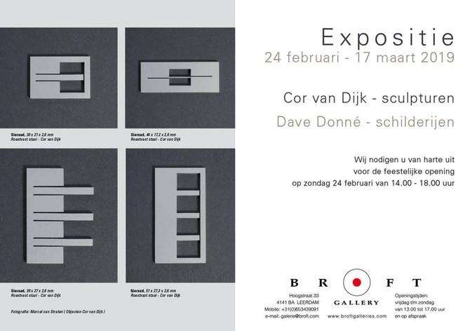 """Expositie  Cor van Dijk """"sculpturen"""" en Dave Donné """"schilderijen"""""""