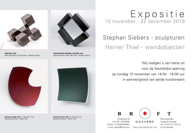 Expositie Stephan Siebers & Heiner Thiel
