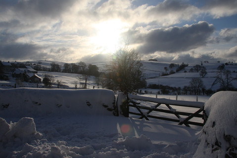 Hope Green Farm in the snow