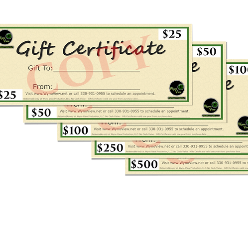 $500.00 Gift Certificates