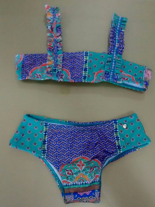 Biquini infantil calças frufru Cauípe