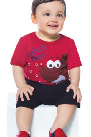 Conjunto infantil masculino camisa e short Abrange